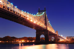 Queensboro Bridge night Royalty Free Stock Photography