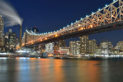 Queensboro Bridge at night. Royalty Free Stock Photos