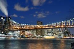 Queensboro Bridge at night. Stock Photo