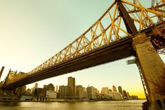 Queensboro Bridge over the East River in Manhattan Royalty Free Stock Photo