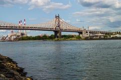 Queensboro Bridge and Power Plant Stock Photography