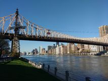 Queensboro Bridge, Roosevelt Island Tramway, NYC, NY, USA Lizenzfreies Stockbild