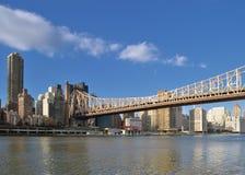 Queensboro Bridge at sunny day. Royalty Free Stock Photos