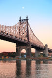 Queensboro Bridge sunset Stock Photo