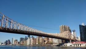Queensboro bro, Ed Koch Queensboro bro, NYC, NY, USA Arkivbilder