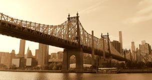 Queensboro most Nowy Jork Sepiowy obrazy stock