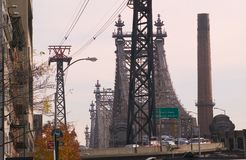 Queensborough Bridge in New York. Queensborough or Fifty Ninth Street Bridge in New York Royalty Free Stock Image