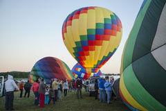 Queensbury NY : Balloonists and spectators gather for the 2016 A. Dirondack  Balloon festival at the Floyd Bennett Memorial Airport on September 25 2016 in Stock Images
