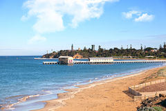 Queenscliff pier, Australia Stock Photos