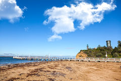 Queenscliff pier, Australia Royalty Free Stock Images