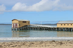 QUEENSCLIFF, VICTORIA, AUSTRALIA - September 25, 2015: The lifeboat shed was built to house the. QUEENSCLIFF, VICTORIA, AUSTRALIA-September 25, 2015: The royalty free stock photography