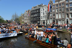Queensday in Amsterdam Stock Foto