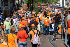 Queensday in Amsterdam Royalty-vrije Stock Afbeelding