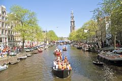 Queensday in Amsterdam the Netherlands stock photography