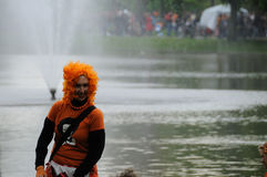 Queensday Celebrations in Amsterdam Stock Photo