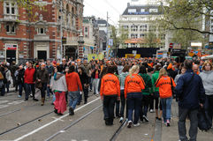 Queensday Celebrations in Amsterdam Royalty Free Stock Images