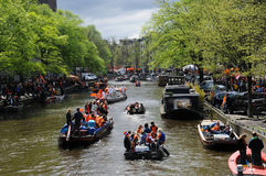 Queensday Celebrations in Amsterdam Stock Photos