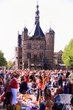 Queensday netherlands street scene Stock Image