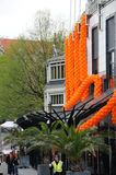 Queensdayvieringen in Amsterdam stock afbeeldingen