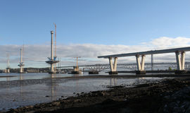 Queensferry Crossing under construction Stock Photos