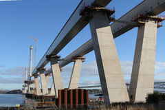 Queensferry Crossing under construction Royalty Free Stock Image