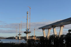 Queensferry Crossing under construction Stock Images