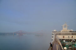 Queensferry with fog Royalty Free Stock Photo