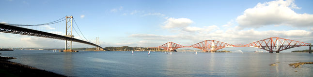 queensferry panorama Royaltyfri Bild