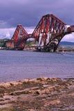 Queensferry Rail Bridge. Forth Rail Bridge in Queensferry, near Edinburgh, Scotland Stock Image
