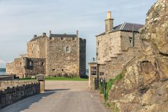 Blackness castle at coast Firth of Forth in Sotland Stock Photography