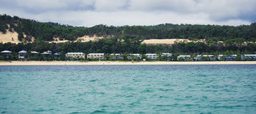 QUEENSLAND AUSTRALIA, MARZEC, - 23, 2017: Widok Tangalooma Islan Obrazy Royalty Free