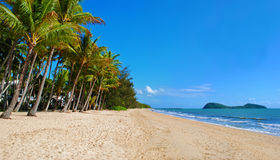 Queensland Beach. Beautiful tropical beach in Palm Cove, Queensland, Australia stock photography