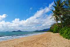 Queensland Beach. Beautiful tropical beach in Palm Cove, Queensland, Australia royalty free stock photos