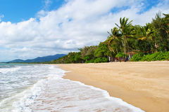 Queensland Beach. Beautiful tropical beach in Palm Cove, Queensland, Australia royalty free stock images