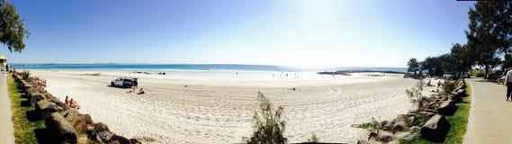 Queensland Beach Panorama stock photography