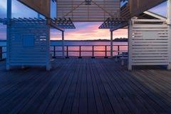 Queensland, Brisbane seaside boardwalk Royalty Free Stock Photos