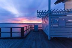 Queensland, Brisbane seaside boardwalk Stock Photography
