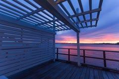 Queensland, Brisbane seaside boardwalk Royalty Free Stock Photo