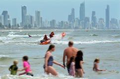 or Queensland de côte de l'australie Images stock