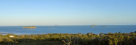queensland för Australien emupark seaviews via zilzie arkivfoto
