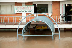 Queensland Floods: Bar under water Royalty Free Stock Photo