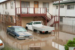 Queensland Floods: Cars under water Stock Photos