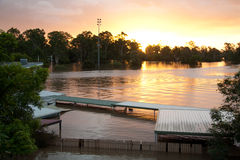 Queensland Floods: Football Stadium Stock Image