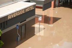 Queensland Floods: Hotel in South Brisbane Stock Images