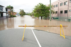 Queensland Floods: Montague Road Barrier Royalty Free Stock Photography