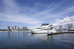 Queensland Gold Coast ports. Gold Coast ports moored yacht Royalty Free Stock Image