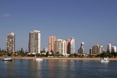 Queensland-Hotels u. Wohnungen Stockbild