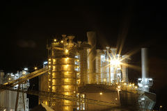 Queensland Industry. At Night near Rockhampton, Queensland, Australia Royalty Free Stock Photography