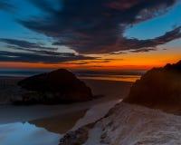 Queensland Ocean Sunrise. Sunrise on Burleigh Beach,Queensland ,Australia Royalty Free Stock Photos