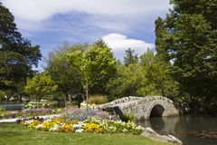 Queenstonw Gardens. The Queenstown Gardens, located next to the town of Queenstown, New Zealand is a botanical garden which contains a variety of exotic and stock photos